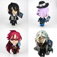 Wholesale ciel toy for sale - Group buy EMS Undertaker Ciel Grell Sutcliff Sebastian CM CM Plush Doll Stuffed Best Gift Soft Toy