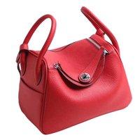 sacs en cuir achat en gros de-Sac Style Lindy Inspiré Luxe Bourse Véritable Sac À Main En Cuir Du Togo Classic Doctors Totes Bag pour Les Femmes