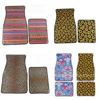 teppichbodenmatten für autos großhandel-Universal Auto Fußmatten Leopardenmuster Fuß Teppiche 2 stücke Pro Anzug Anti Rutschen Multi Farben 31dy F1