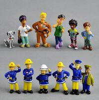 ingrosso regalo puffi-12Pcs / Set anime Fireman Sam action figure figura figure in PVC bambola giocattoli 3-6cm sveglio del fumetto per la decorazione o la raccolta