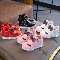 baskets taille princesse achat en gros de-KKABBYII Vente Chaude Enfants Rougeoyant Chaussures Enfants Princesse Filles Led Chaussures Printemps Automne Mignon Bébé Sneakers EU Taille 21-30
