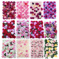 Wholesale flower decorations for cakes for sale - Group buy 40x60cm Silk Rose Flower Champagne Artificial Flower for Wedding Decoration Flower Wall Romantic Wedding Xmas Backdrop Decor