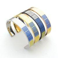 braceletes inspirados para homens venda por atacado-Nova moda Rose Gold Engraved Positivo Inspirado C cuff pulseiras Bangles para mulheres homens Pulseiras Presentes de Aniversário Feminino para as mulheres
