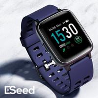 relógio de calorias mulheres relógio venda por atacado-Rate Monitor ESEED de Fitness Rastreador smartwatch coração Activity Bluetooth Rastreador relógio inteligente com Calorie Counter para crianças homens mulheres