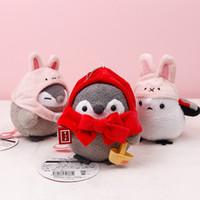 ingrosso ciondolo giapponese ragazza-Giapponese kawaii farcito giocattoli energia positiva pinguino ciondolo bambola peluche vendita partite bambina coniglio cappello pinguino bambole giocattolo