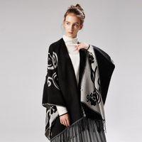 Wholesale warm blankets for women for sale - Group buy Fashion Brand Designer Scarf Blanket for Women x150cm Sherpa Throw Blanket Winter Warm Thick Scarf Mandala Blankets Split Art