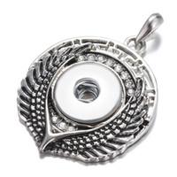 strass diamant geformte tasten großhandel-Neu vermarkteter, baumförmiger diy Knopf sieht gut aus mit rhodiniertem rundem Diamanthalskettenanhänger mit Strass diy Knopf