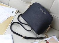 Wholesale shell crosses resale online - Factory hot handbag cross pattern synthetic leather shell chain bag Shoulder Messenger Bag Fashionista