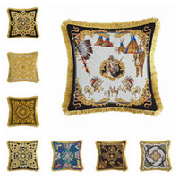 European Luxury Pillow Covers Solid Burlap Pillow Case Classical Linen Square Cushion Cover Sofa Decorative Pillows Cases 8 Styles Available