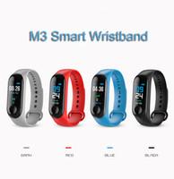 l12s запястье оптовых-Smart Watch Bluetooth Монитор сердечного ритма Фитнес-браслет Водонепроницаемое зарядное устройство USB M3 Smart Band Браслет Фитнес-активность Спорт Браслет
