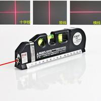 fitas de medida venda por atacado-Multifuncional Laser Nível alinhador Horizontal Linha Cruz Vertical Medida 8 pés / 2.5m Fita régua padrão Métrica Régua