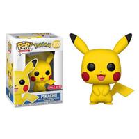 puppen verkaufen großhandel-Meistverkaufte Pikachu-PVC-Puppen Hochwertige Funko POP Pikachu-Spielzeug Cartoon Tiere Spielzeug Einrichtungsartikel beste Geschenke