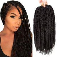 Wholesale kanekalon braiding hair free shipping for sale - Packs X Box Braid Crochet Hair Box Braids Hair Extensions Crochet Braids Kanekalon Braiding Hair B