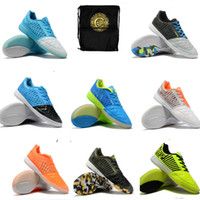 Wholesale indoor outdoor soccer shoes for sale - Group buy 2019 New Arrival Mens Lunar Gato II IC Indoor Outdoor Turf Football Boots Leather Skin Soccer Cleats Super Light Shoes gato
