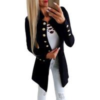 chaquetas ol al por mayor-Nuevas mujeres de otoño Chaquetas punk vintage Abrigos delgados para mujer Feminino Ol Chaqueta de traje de trabajo formal Ropa de mujer