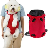 Wholesale puppy carrier tote for sale - Group buy Pet Carrier Dog Front Chest Backpack Five Holes Backpack Dog Outdoor Carrier Tote Bag Sling Holder Mesh Cat Puppy