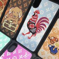 capa do zodíaco venda por atacado-Design da marca 12 zodíaco animal phone case capa para iphone xs max 7 7 mais 8 8 plus 6 6lus xr x tpu + pc casca dura