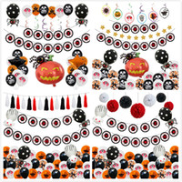Wholesale spider balloons for sale - Group buy Halloween Pumpkin Ghost Balloons Sets Halloween Decorations Spider Foil Balloons Inflatable Toys Bat Halloween Party Supplies