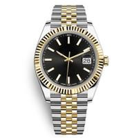 neue art und weise führte uhrfarben großhandel-Luxus Herrenuhr mit Datum 36mm hohe Qualität automatische mechanische Designer-Männer beiläufige Uhr Edelstahl Montpel Uhr