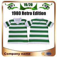 ingrosso calcio d'epoca-Maglie calcio celtico 1980 Retro Edition 80/82 casa bianco e verde Vintage Scozia CALCIO Maglia da calcio Charlie Nicholas Divisa da calcio