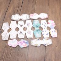 tarjetas impresas a mano al por mayor-4.5 * 10.8 cm Tarjeta de Exhibición de Embalaje de Collar de Papel Impreso Multicolor Etiqueta de Tarjeta de Collar Etiqueta de Mano Hecho A Mano