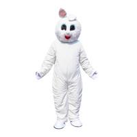 mavi tavşan maskotu toptan satış-Paskalya Günü Tavşan Maskot Kostüm Fantezi Elbise Mavi Ceket Ile En İyi Satış Tavşan