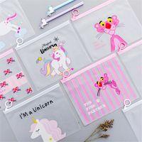 Wholesale filing folders bags resale online - High Quality Cute Cartoon Unicorn PVC Pencil Case Box Waterproof Portable Document Bag File Folder Stationery Holder Organizer