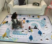 armazenamento de tapetes venda por atacado-Bebê Tapete Squishy Crianças Tapetes de Quarto Multifuncional Tapetes Do Bebê Rastejando Tapete Brinquedos Saco De Armazenamento Crianças Jogo de Quarto Tapete Tapete