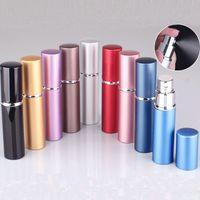 atomizador de fragrância recarregável venda por atacado-5 ml Mini Perfume Frasco de Spray Portátil Recarregável Atomizador Vazio Garrafas de Óleos Essenciais Difusores de Casa Fragrâncias Para Cosméticos WX9-1447