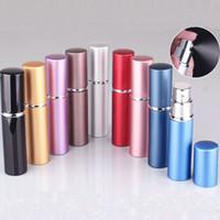 ingrosso atomizzatore di fragranza ricaricabile-5ml Mini Spray Spray per profumo Portatile Riutilizzabile Atomizzatore Bottiglie vuote Oli essenziali Diffusori Home Fragrances per cosmetici WX9-1447