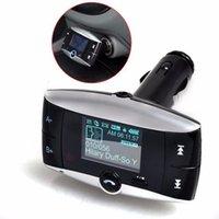 araba mp3 usb sd mmc toptan satış-Araba MP3 Çalar Otomotiv Aksesuarları 1.5 inçLCD Araç Kiti MP3 Çalar Bluetooth FM Verici Modülatör SD MMC USB Uzaktan @ # 228