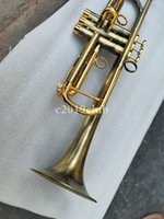 New Arrival Bb Trumpet exquisite Vintage Copper Gold Lacquer Bb Trumpet Brass B Flat Musical Instrument with Case Mouthpiece