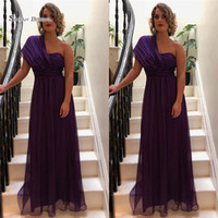 3b1112128b Wholesale white one shoulder maternity dress for sale - 2019 Purple A line One  Shoulder Chiffon