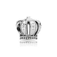 925 adet gümüş taç takılar toptan satış-Marka takı aksesuarları için Taç Avrupa Boncuk Charms Orijinal kutusu Pandora 925 Ayar Gümüş Takılar Bilezik Takı Yapımı