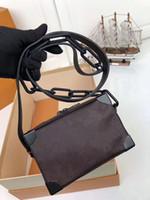 modelos de senhora negra venda por atacado-Novo modelo de luxo clássico europeu estilo saco de senhora fishone saco preto cadeia balde decorativo saco de festa