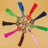 Wholesale chinese knot tassels for sale - Group buy Creative Opera Face Ployester Chinese Knotting Tassels Fringe For Keys Car Bag Key Ring Key Chains Party Favor Gifts ZC0915