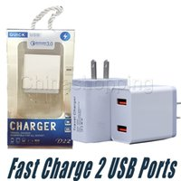 Wholesale bank adapters online – Usb Charger Wall Adapter Port Dual Usb Fast Charger US EU Plug Travel Charging For Mobile Phone