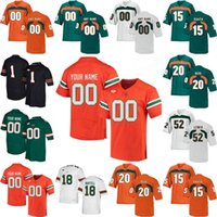 Wholesale black college football resale online - NCAA Miami Hurricanes Jerseys Dwayne Johnson Jersey Jimmy Graham Jim Kelly Devin Hester Frank Gore College Football Jerseys Custom Stitched