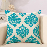 Wholesale home accessories online - Sofa Car geometric Pillow Case Bohemia print cover household creative accessories colorful types Grid stripe pillow cover QQA228