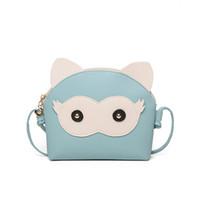 niedliche kleine frauen tasche großhandel-Adorable Fun Owl Shell Bag Kinder 2019 Mode Cartoon Cute Panel Schulter Handtaschen Frauen Mini Umhängetasche für kleine Mädchen