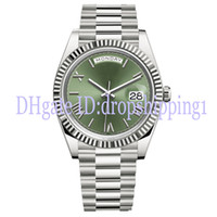 Wholesale glasses big face for sale - Group buy 2019 Mens Watch MM DAY DATE Green Rome Number Face Big Date Automatic Mechanics Watch Men Sapphire Glass Stainless Steel Wristwatches