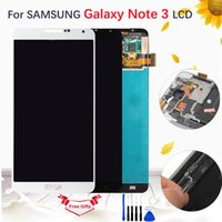 dokunmatik ekran notu toptan satış-Samsung Galaxy Not Için 5.7 '' AMOLED / TFT LCD 3 III SM-N9005 SM-N900 Çerçeve ile LCD Ekran Dokunmatik Ekran Digitizer Meclisi TFT