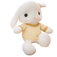 Wholesale white day beds online - Hot Selling cute holding pillow girl rabbit piush toy little rabbit piush toy litttle white rabbit doll holding sleeping bed