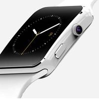 iphone gprs toptan satış-X6 Akıllı İzle Kamera Ile GPRS Dokunmatik Ekran Desteği Sim Tf Kart Bluetooth Smartwatch iphone Xiaomi Android Telefon için
