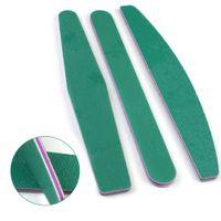 ingrosso blocco smeriglio-5 Pz / set Verde Professionale Nail File Buffer Carta Vetrata Emery Block Lucidatura Rettifica per Nail File Manicure Nailfile Set