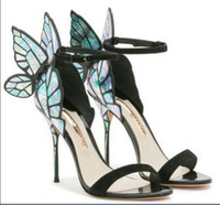Wholesale shoes for dresses for sale - Group buy Sophia Webster Sandals women shoes Genuine Leather Pumps Butterfly High Heel Sandals For Women Sexy Stiletto Shoes