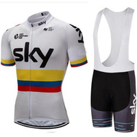 Wholesale team sky cycling jersey blue for sale - Group buy Bicycle Clothing Men SKY Team Pro Cycling Quick dry Jersey Bib Shorts Riding Suit Bike Wear Shirts Ropa Ciclismo MTB Trendy Sportwear