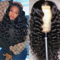 Wholesale sell human hair for wigs for sale - Group buy 2019 hot selling hd Swiss lace human bounce wave wigs Brazilian Hair density with baby hair For Black Women