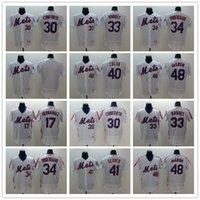jerseygaard mayo toptan satış-Erkek beyzbol forması, Erkek 31 Mike Piazz 34 noah syndergaard Flexbase Koleksiyon dikişli