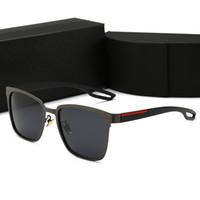 горячие дизайнерские солнцезащитные очки для мужчин оптовых-Горячая Новая Мода Винтаж Вождения Солнцезащитные Очки Мужчины Спорт На Открытом Воздухе Дизайнерские Мужские Солнцезащитные Очки Лучшие Продажи Очки Очки 6 Цвет С Коробкой